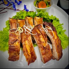 103 Coti de porc frit, sauce laqué