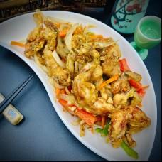 Cuisse de grenouilles frité poivre et sel à l'ail