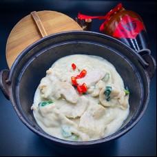 Poulet à la façon Thaï au curry vert
