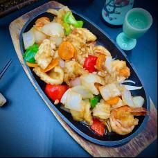 Trois délices de la mer aux légumes